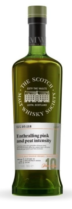 The Dramble's tasting notes for 10.118 Entralling Pink and Peat Intensity