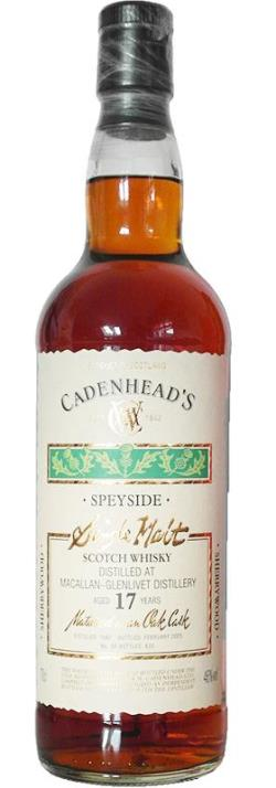 The Dramble's tasting notes for Macallan 1987 17 year old Sherry Wood Cadenhead's