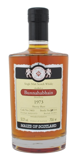 The Dramble's tasting notes for Bunnahabhain 1973 38 year old Malts of Scotland