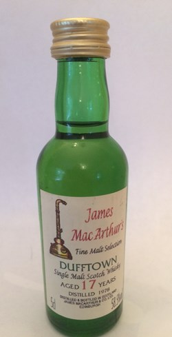 The Dramble reviews Dufftown 1978 17 year old James MacArthur Fine Malt Selection