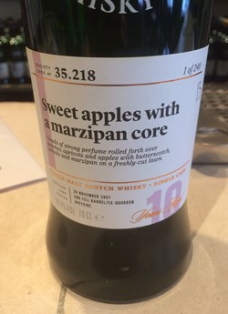 The Dramble reviews SMWS 35.218 Sweet apples with a marzipan core