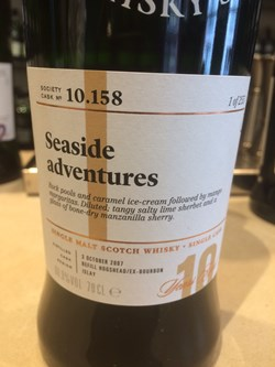 The Dramble reviews SMWS 10.158 Seaside adventures