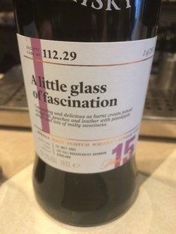 The Dramble reviews SMWS 112.29 A little glass of fascination