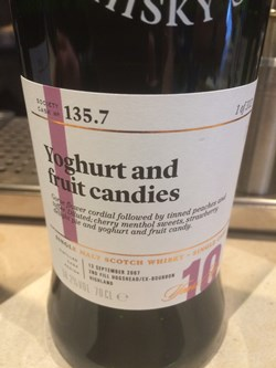 The Dramble reviews SMWS 135.7 Yoghurt and fruit candies