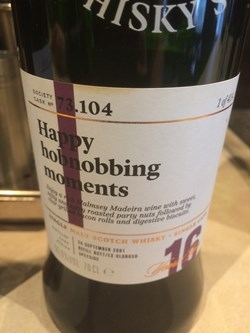 The Dramble reviews SMWS 73.104 Happy hobnobbing moments