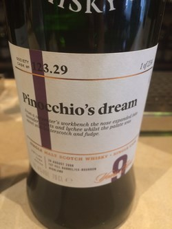 The Dramble reviews SMWS 123.29 Pinocchio's dream