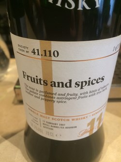 The Dramble reviews SMWS 41.110 Fruits and spices