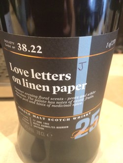 The Dramble reviews SMWS 38.22 Love letters on linen paper