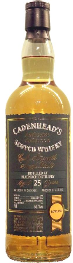 The Dramble reviews Cadenhead's Bladnoch 1990 25 year old