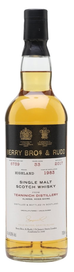 The Dramble reviews Teaninich 1983 33 year old Berry Brothers & Rudd
