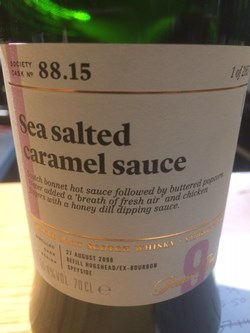 The Dramble reviews SMWS 88.15 Sea salted caramel sauce