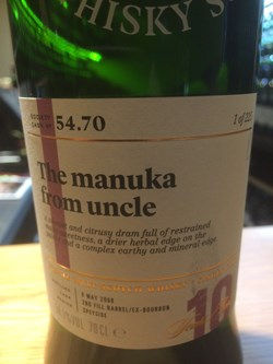 The Dramble reviews SMWS 54.70 The manuka from uncle