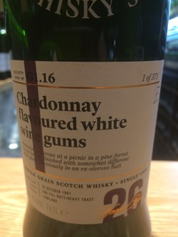 The Dramble reviews SMWS G1.16 Chardonnay flavoured white wine gums