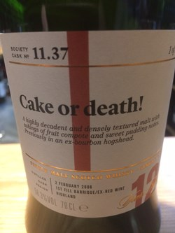 The Dramble reviews SMWS 11.37 Cake or death!