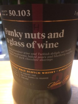 The Dramble reviews SMWS 50.103 Funky nuts and a glass of wine