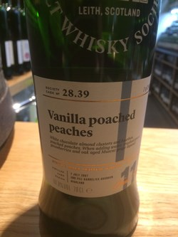 The Dramble reviews SMWS 28.39 Vanilla poached peaches