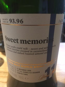 The Dramble reviews SMWS 93.96 Sweet memories