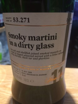 The Dramble reviews SMWS 53.271 Smoky martini in a dirty glass