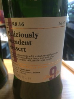The Dramble reviews SMWS 88.16 Deliciously decadent dessert