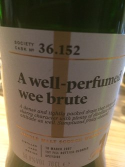 The Dramble reviews SMWS 36.152 A well-perfumed wee brute