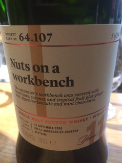 The Dramble reviews SMWS 64.107 Nuts on a workbench