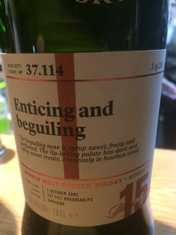 The Dramble reviews SMWS 37.114 Enticing and beguiling