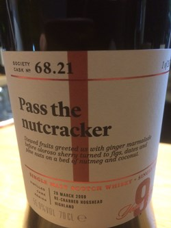 The Dramble reviews SMWS 68.21 Pass the nutcracker