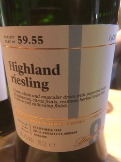 The Dramble reviews SMWS 59.55 Highland riesling