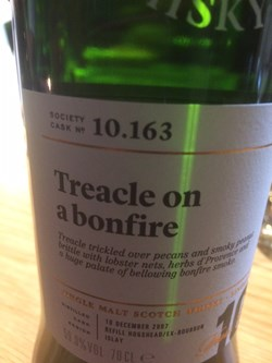 The Dramble reviews SMWS 10.163 Treacle on a bonfire