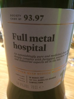 The Dramble reviews SMWS 93.97 Full metal hospital