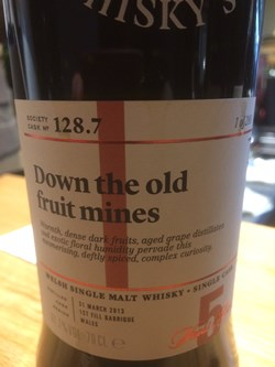 The Dramble reviews SMWS 128.7 Down the old fruit mines
