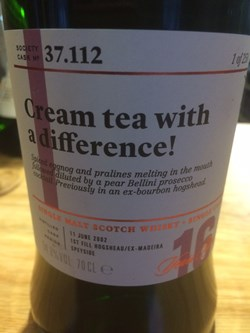 The Dramble reviews SMWS 37.112 Cream tea with a difference!