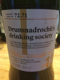 The Dramble reviews SMWS 72.71 Drumnadrochit's drinking society