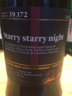 The Dramble reviews SMWS 39.172 Starry starry night