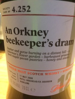 The Dramble reviews SMWS 4.252 An Orkney beekeeper's dram