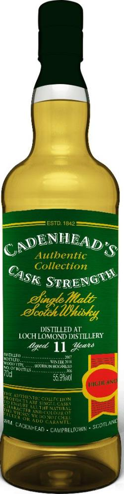The Dramble reviews Loch Lomond 2007 11 year old Cadenhead's Authentic Collection