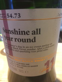 The Dramble reviews SMWS 54.73 Sunshine all year round