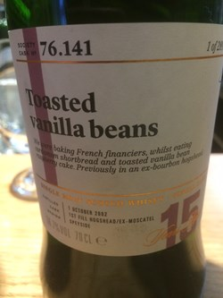 The Dramble reviews SMWS 76.141 Toasted vanilla beans