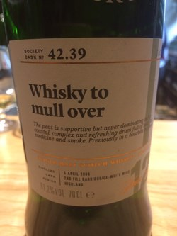 The Dramble reviews SMWS 42.39 Whisky to mull over