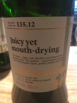 The Dramble reviews SMWS 135.12 Juicy yet mouth-drying