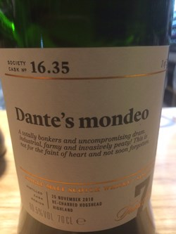 The Dramble reviews SMWS 16.35 Dante's Mondeo