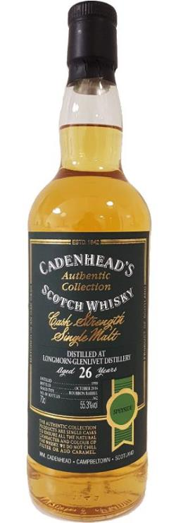 The Dramble's tasting notes for Longmorn 1990 26 year old Cadenhead's Authentic Collection