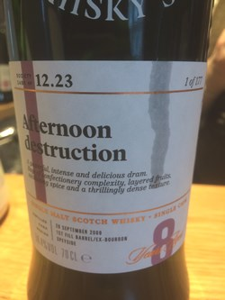 The Dramble reviews SMWS 12.23 Afternoon destruction