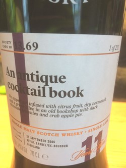 The Dramble reviews SMWS 13.69 An antique cocktail book