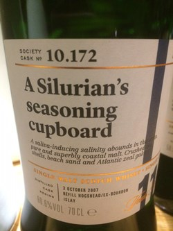 The Dramble reviews SMWS 10.172 A silurian's seasoning cupboard