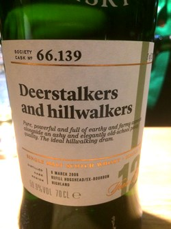 The Dramble reviews SMWS 66.139 Deerstalkers and hillwalkers