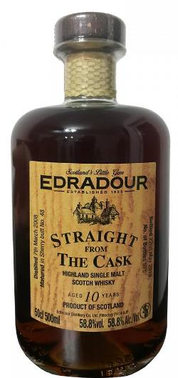 The Dramble reviews Edradour 2008 SFTC Sherry Cask Matured