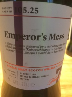 The Dramble reviews SMWS 105.25 Emperor's mess
