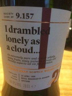 The Dramble reviews SMWS 9.157 I drambled lonely as a cloud