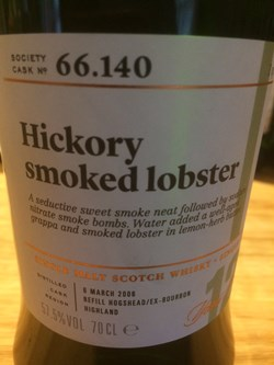 The Dramble reviews SMWS 66.140 Hickory smoked lobster